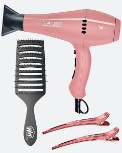 Suszarka HH SIMONSEN 360 Boss Hair Dryer Wood Rose + Szczotka Epic Quick Dry + Klipsy