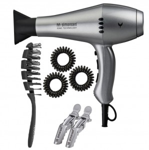 HH SIMONSEN Boss Hair Dryer Gloss Silver - Suszarka + zestaw